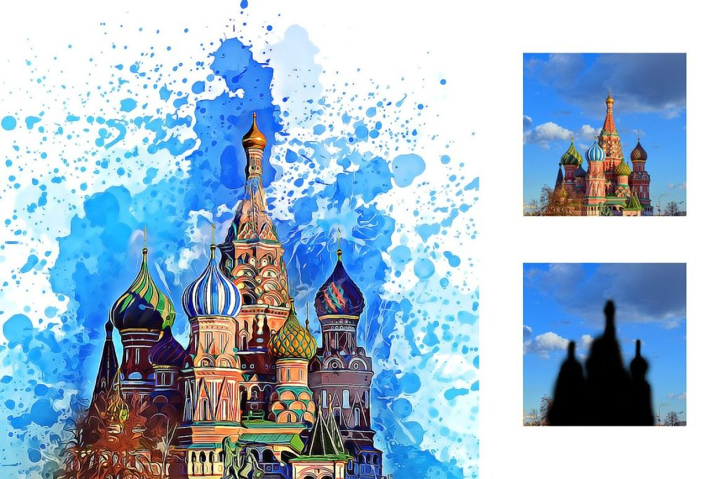 7 in 1 Watercolor Photoshop Action Bundle - preview 6 4