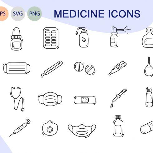 Medical Icons Bundle: Medicine line icons - title600 1 490x490