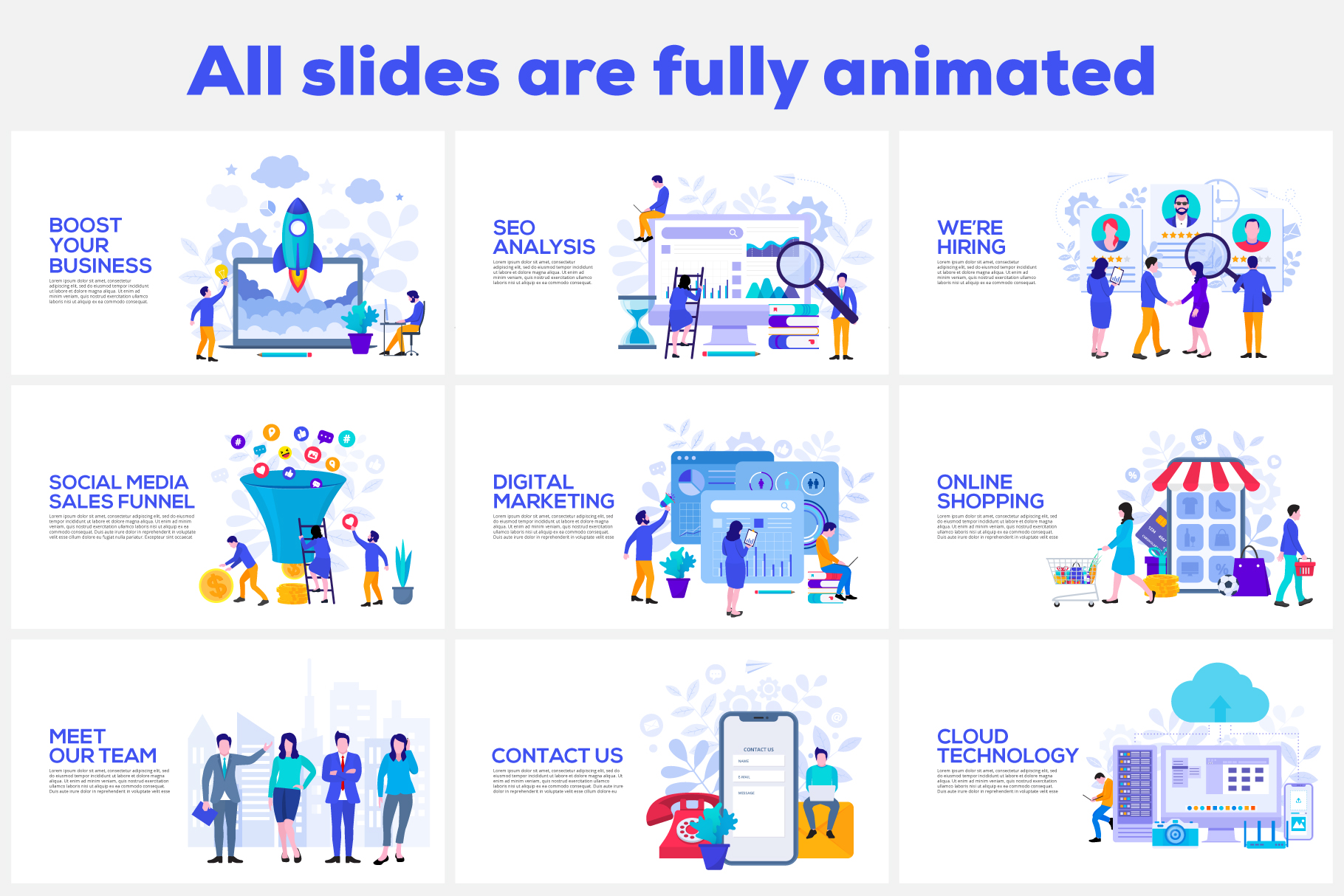 20 Flat Illustrations Animated Presentation - 01 1