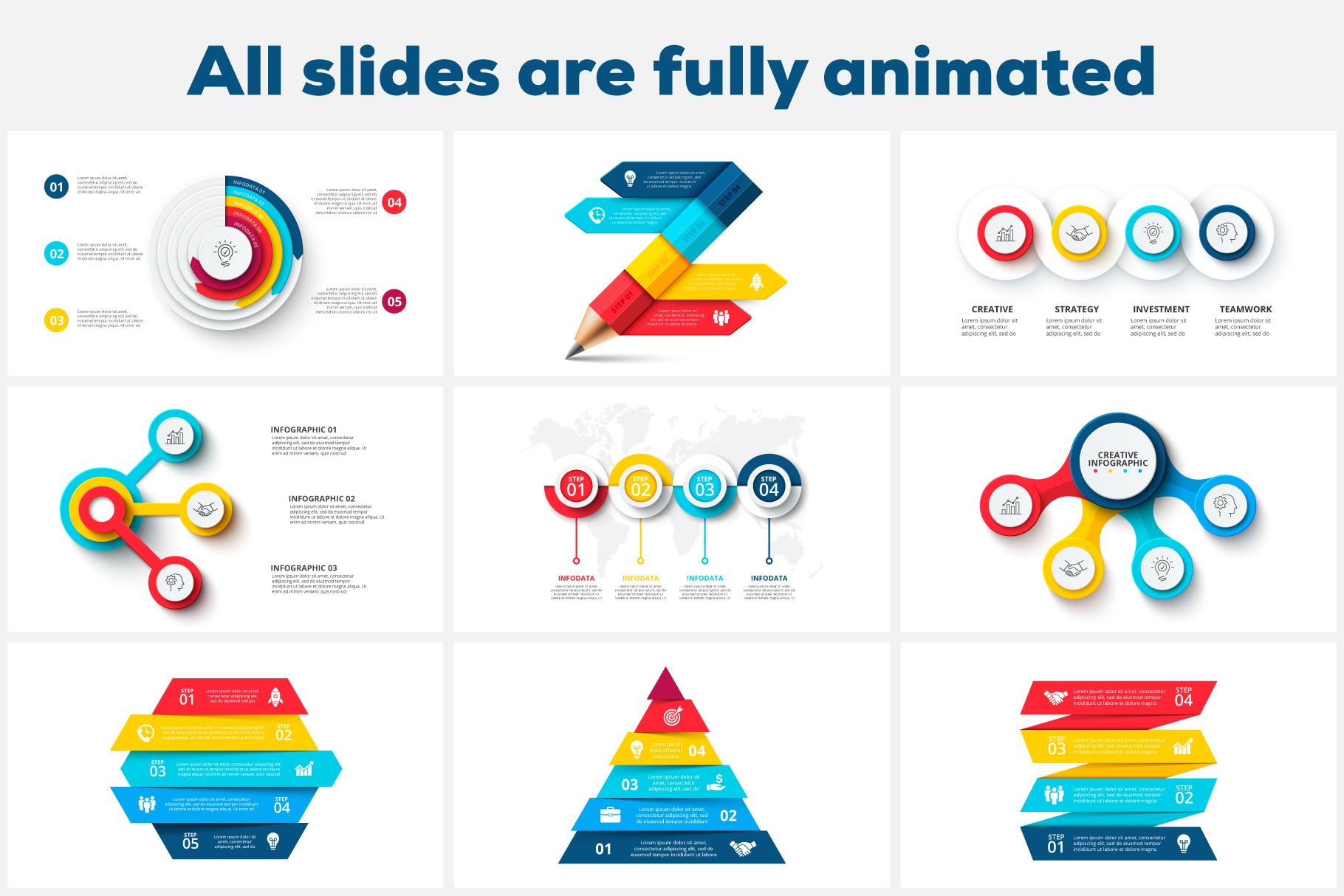 80 Cool Animated Infographics Presentations - 01 2