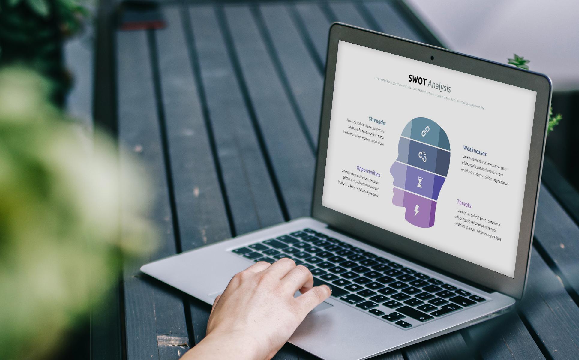 Best SWOT Analysis Template Powerpoint 2021: 40 Unique Slides & 5 Color Schemes - 05