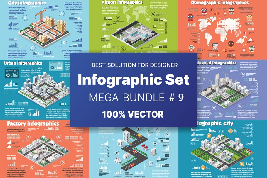 Title slide with an image of the main infographics.