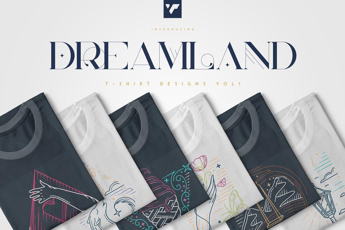 Dreamland t-shirts summer designs.