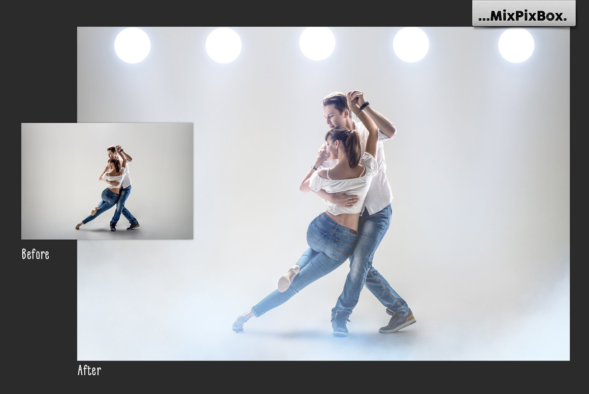 45 Lights Overlays: Stage Lights Photoshop - 1 4
