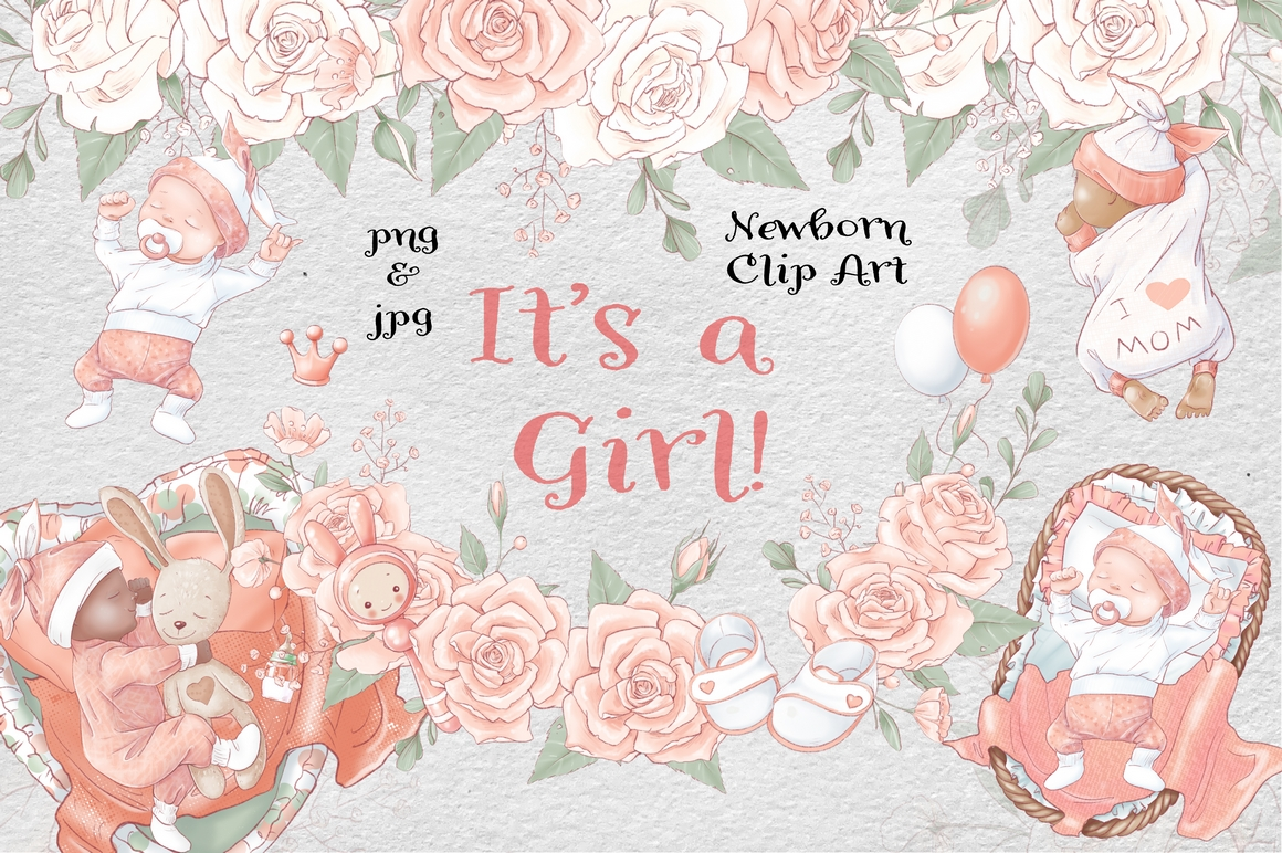 Princess Baby Shower Clipart Images