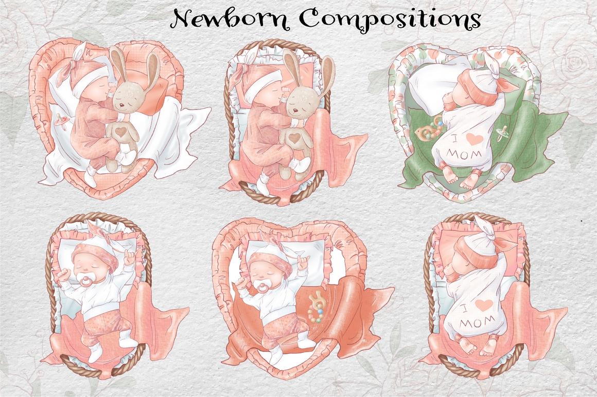 Princess Baby Shower Clipart Images Bundle - 10