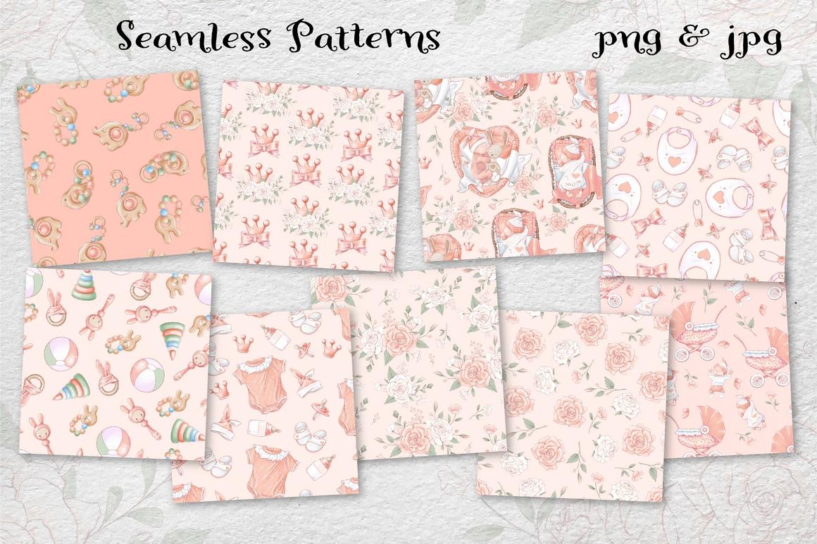 Princess Baby Shower Clipart Images Bundle - 15