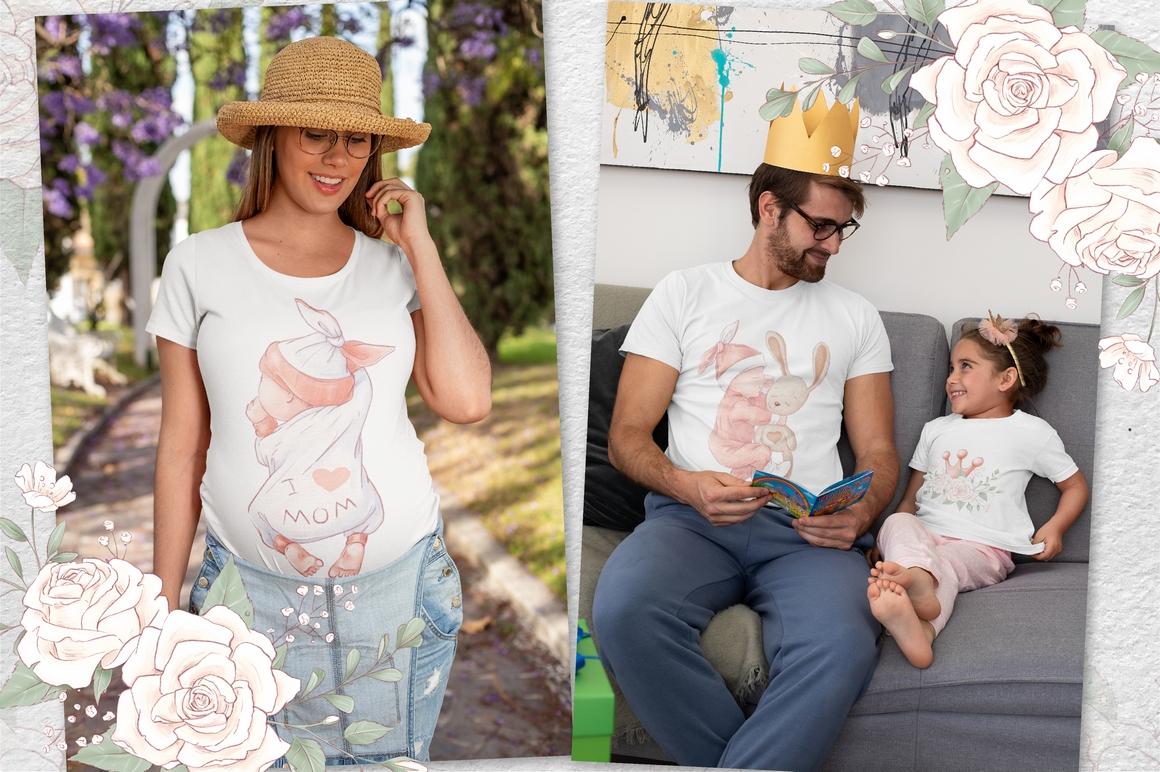 Princess Baby Shower Clipart Images Bundle - 16