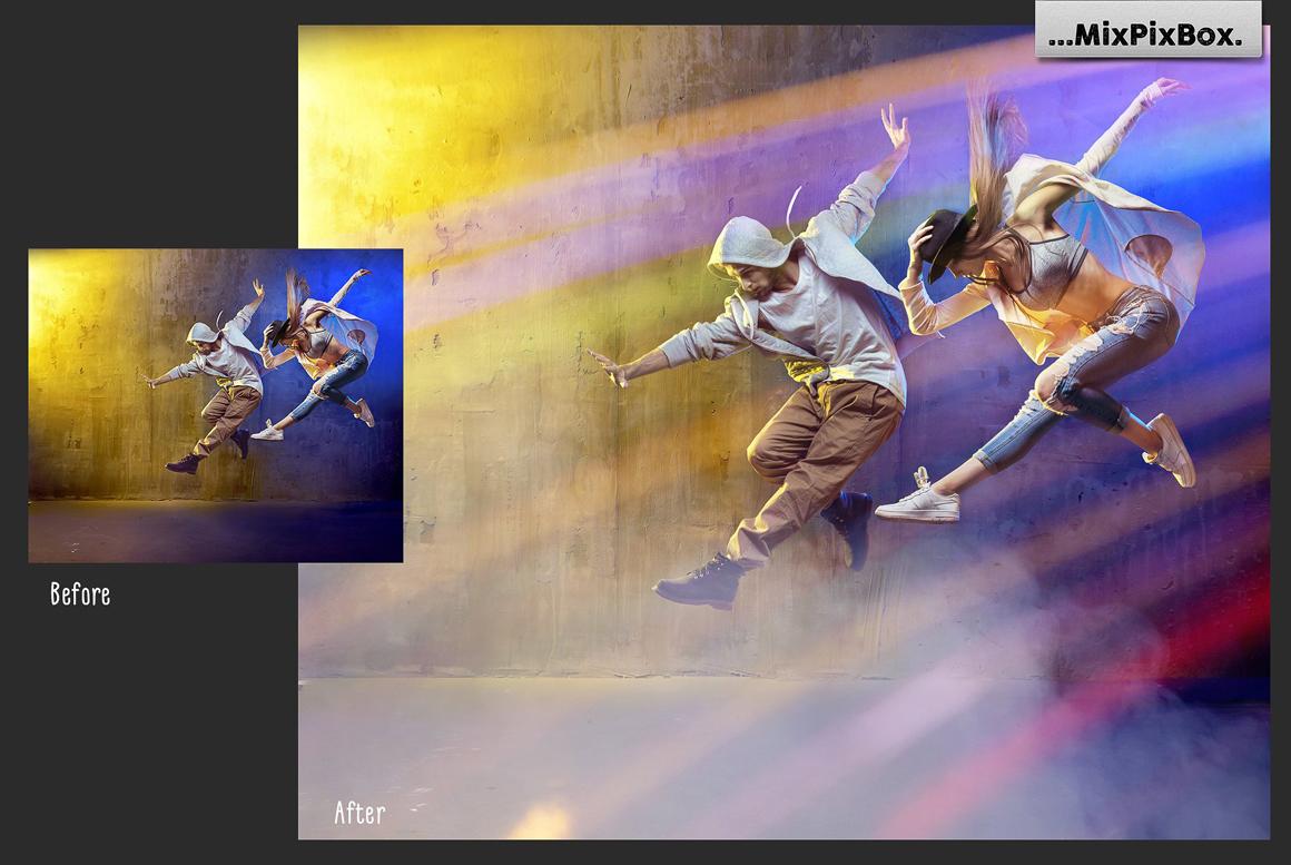 45 Lights Overlays: Stage Lights Photoshop - 2 4