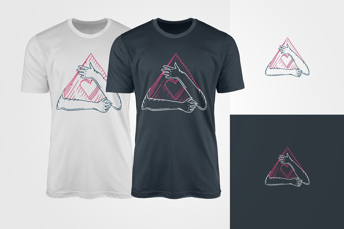Lovely t-shirts in two colors with heart.