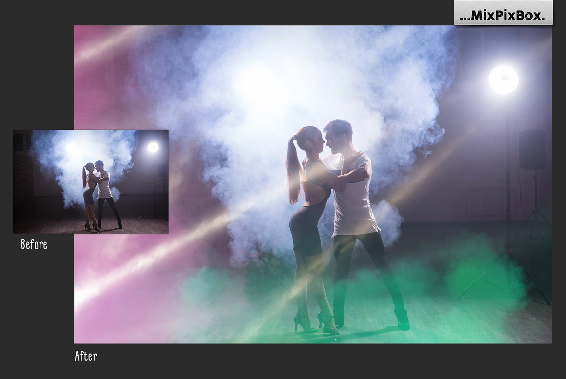 45 Lights Overlays: Stage Lights Photoshop - 3 4