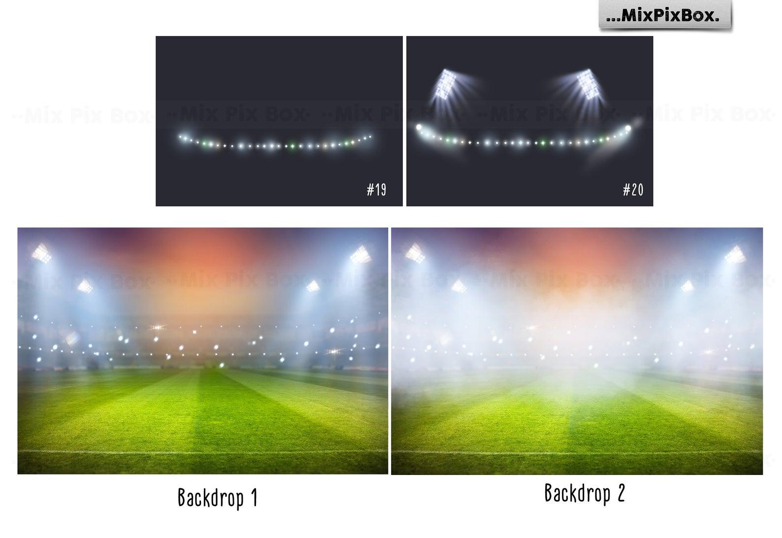 20 Stadium Lights Overlays + 6 Backdrops - 3 5