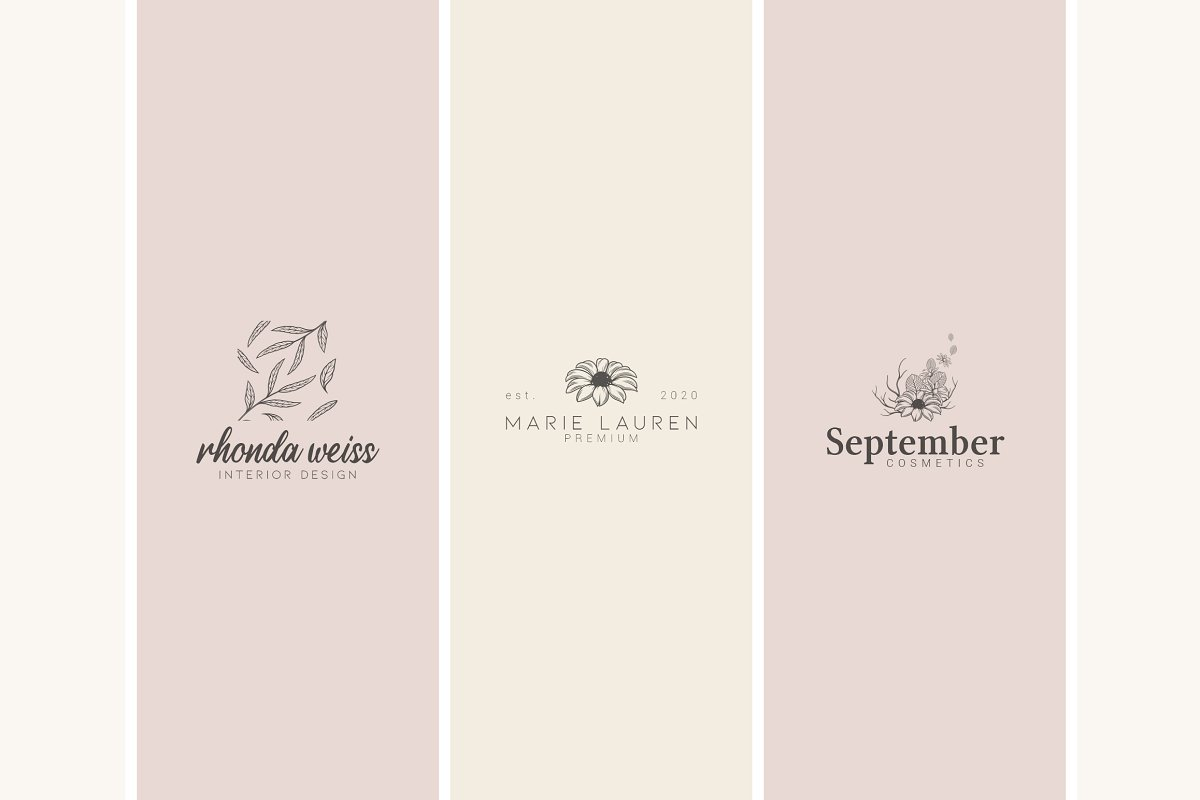 12 Floral Logo Templates - Ai & PS - 4
