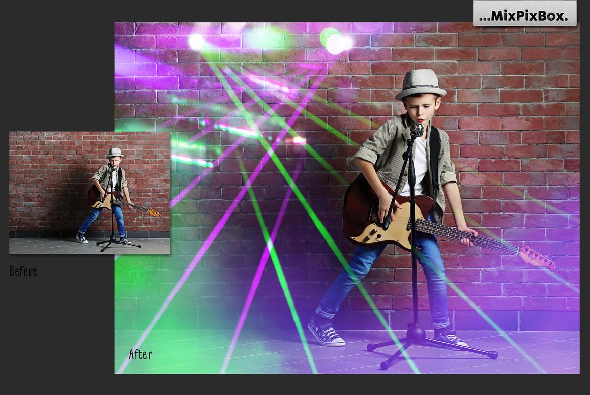 45 Lights Overlays: Stage Lights Photoshop - 4 4