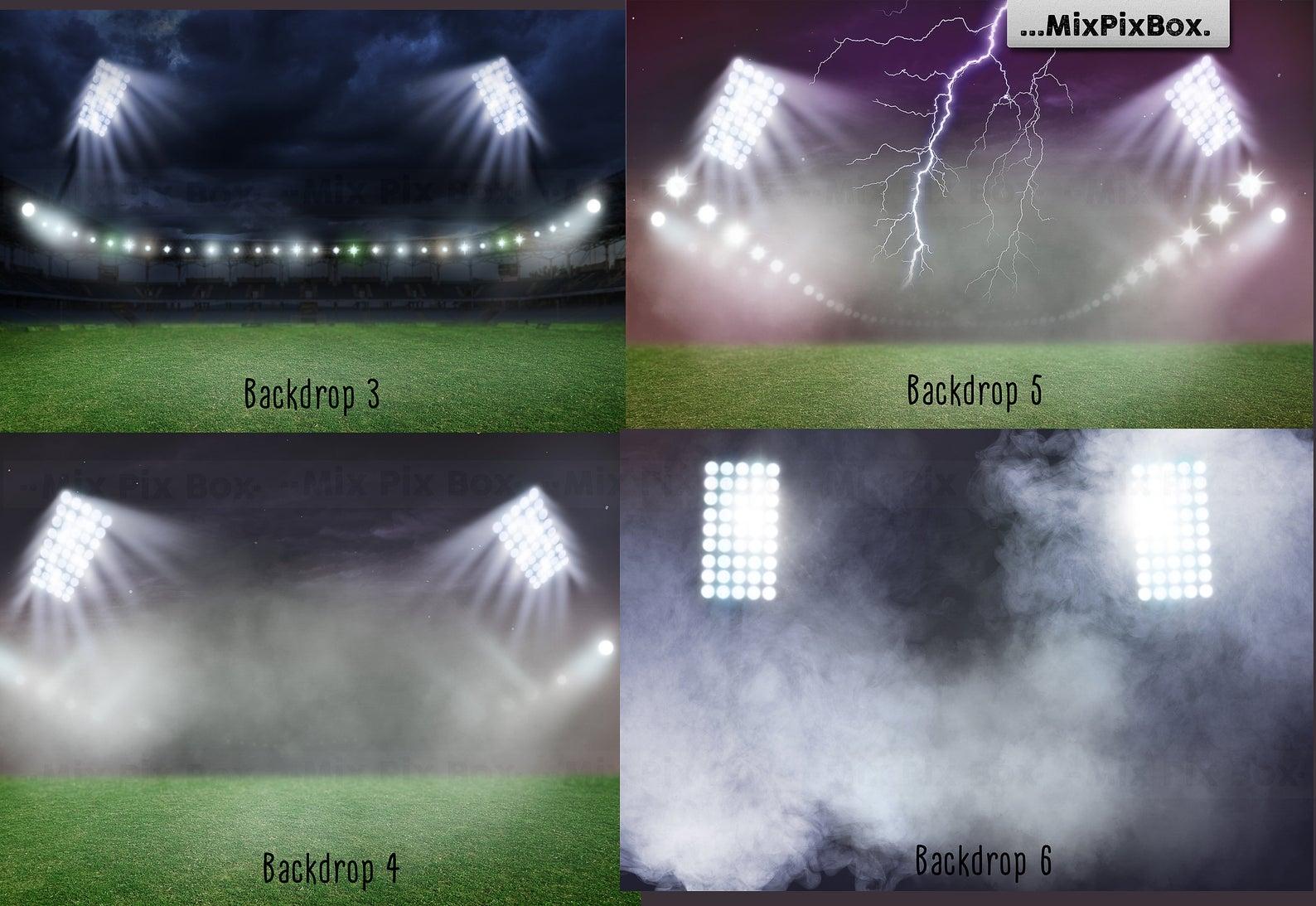 20 Stadium Lights Overlays + 6 Backdrops - 4 5