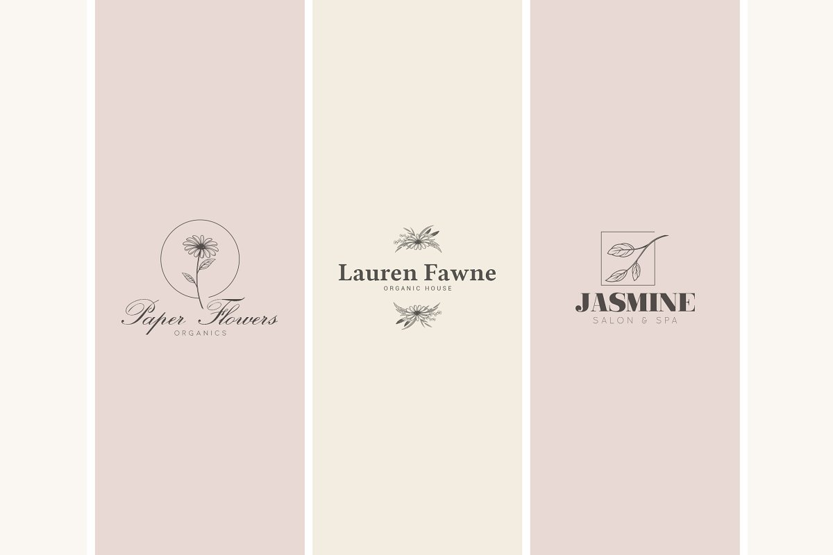 12 Floral Logo Templates - Ai & PS - 6