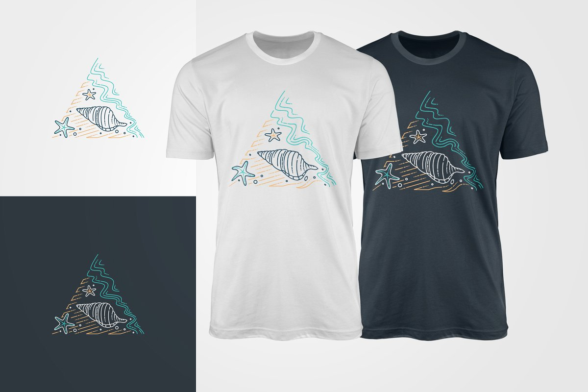 Nautical theme of t-shirts. It's really graphics for trip.