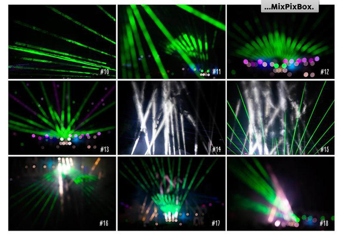 45 Lights Overlays: Stage Lights Photoshop - 6 3
