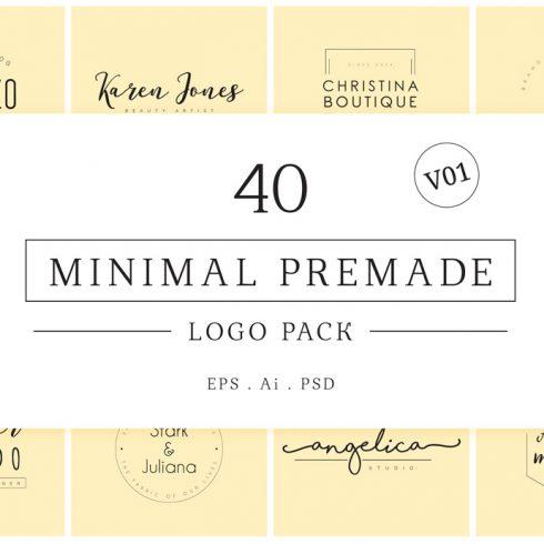 Minimal Premade Logos Bundle 2020 - 600 11 490x490