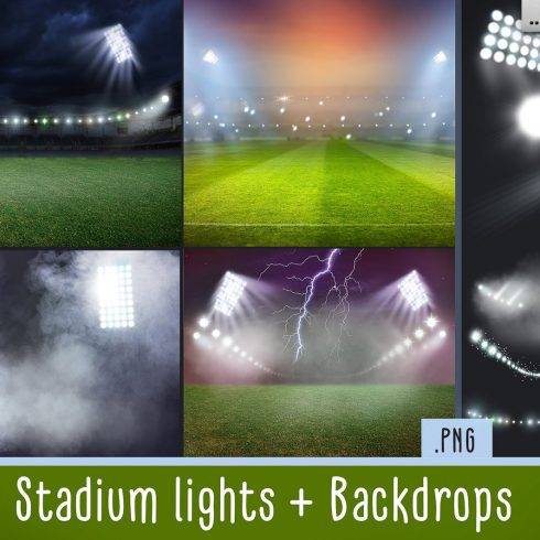 20 Stadium Lights Overlays + 6 Backdrops - 600 12 490x490