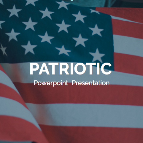 Patriotic PowerPoint Template 2020: 50 Slides + Keynote + Google Slides - 600