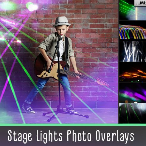 45 Lights Overlays: Stage Lights Photoshop - 601 4 490x490