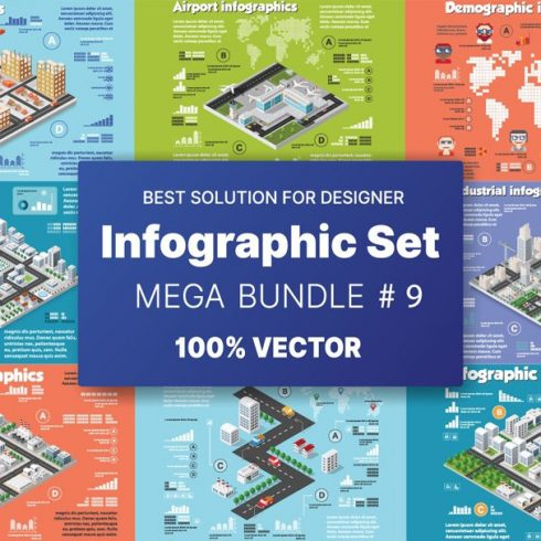 Isometric Art Bundle: Awesome Concepts with an Awesome Discount - 601 6 490x490