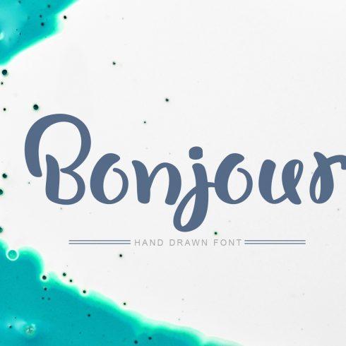 Bonjour Tall Handwritten Font 2020 - 601 8 490x490