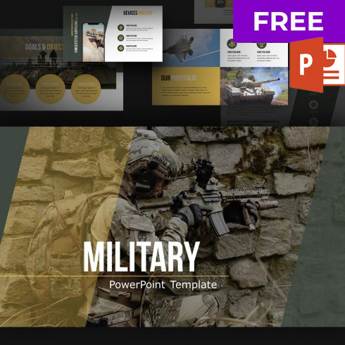 Free Military Powerpoint Template - 601