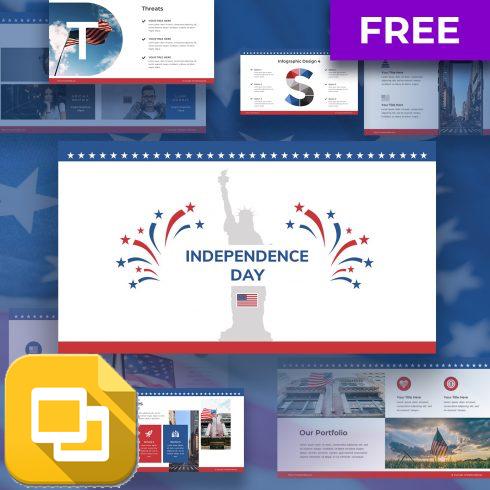 Free Independence Day Google Slides Theme: 8 Slides - 604