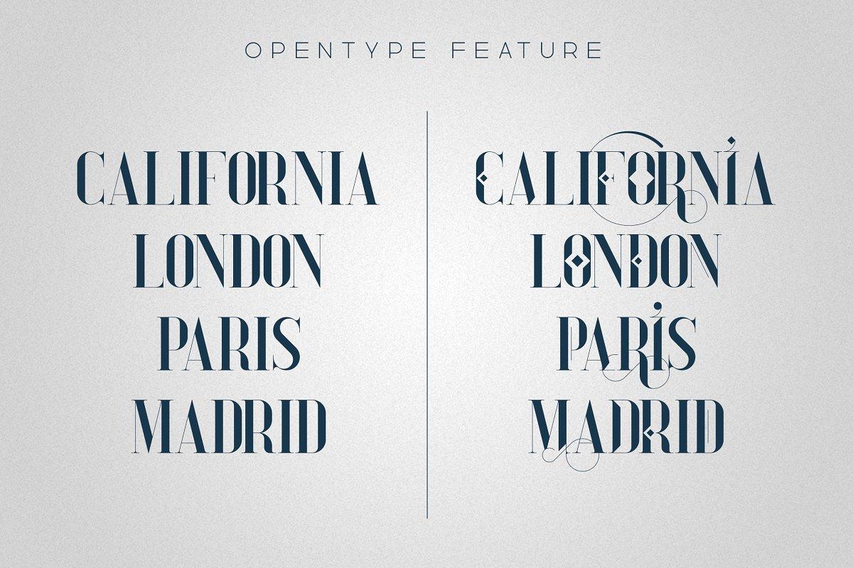 Tall Serif Font Daylight Dreams + Extras - 7 1 3