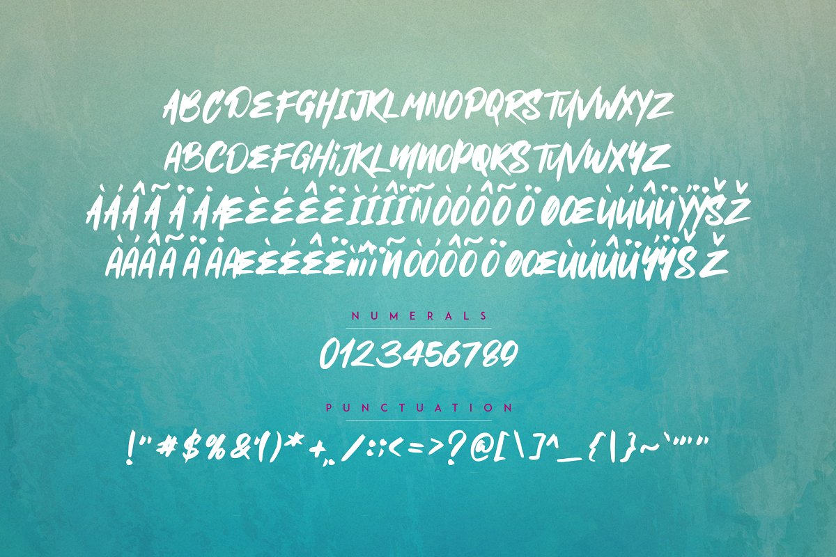 Mischief -  Alphabet Brush Calligraphy Font + Extras - 8 1 1