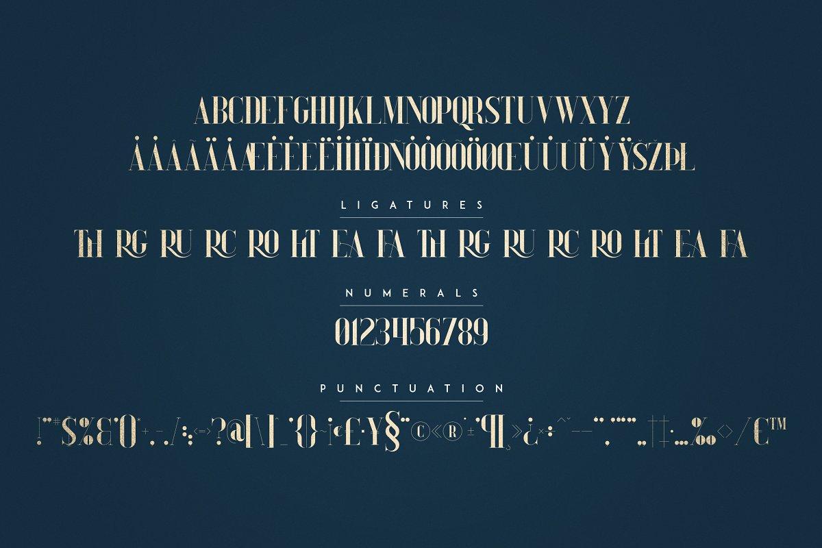 Tall Serif Font Daylight Dreams + Extras - 8 1 3