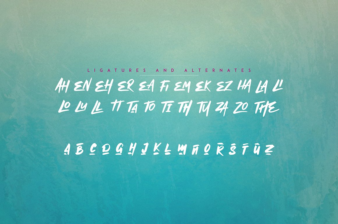 Mischief -  Alphabet Brush Calligraphy Font + Extras - 9 1 1
