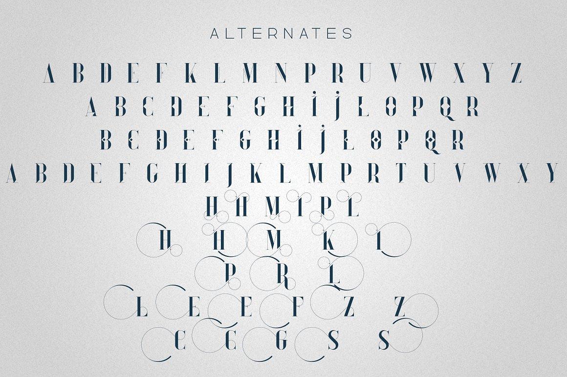 Tall Serif Font Daylight Dreams + Extras - 9 1 2