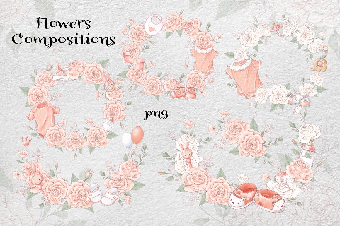 Princess Baby Shower Clipart Images Bundle - 9