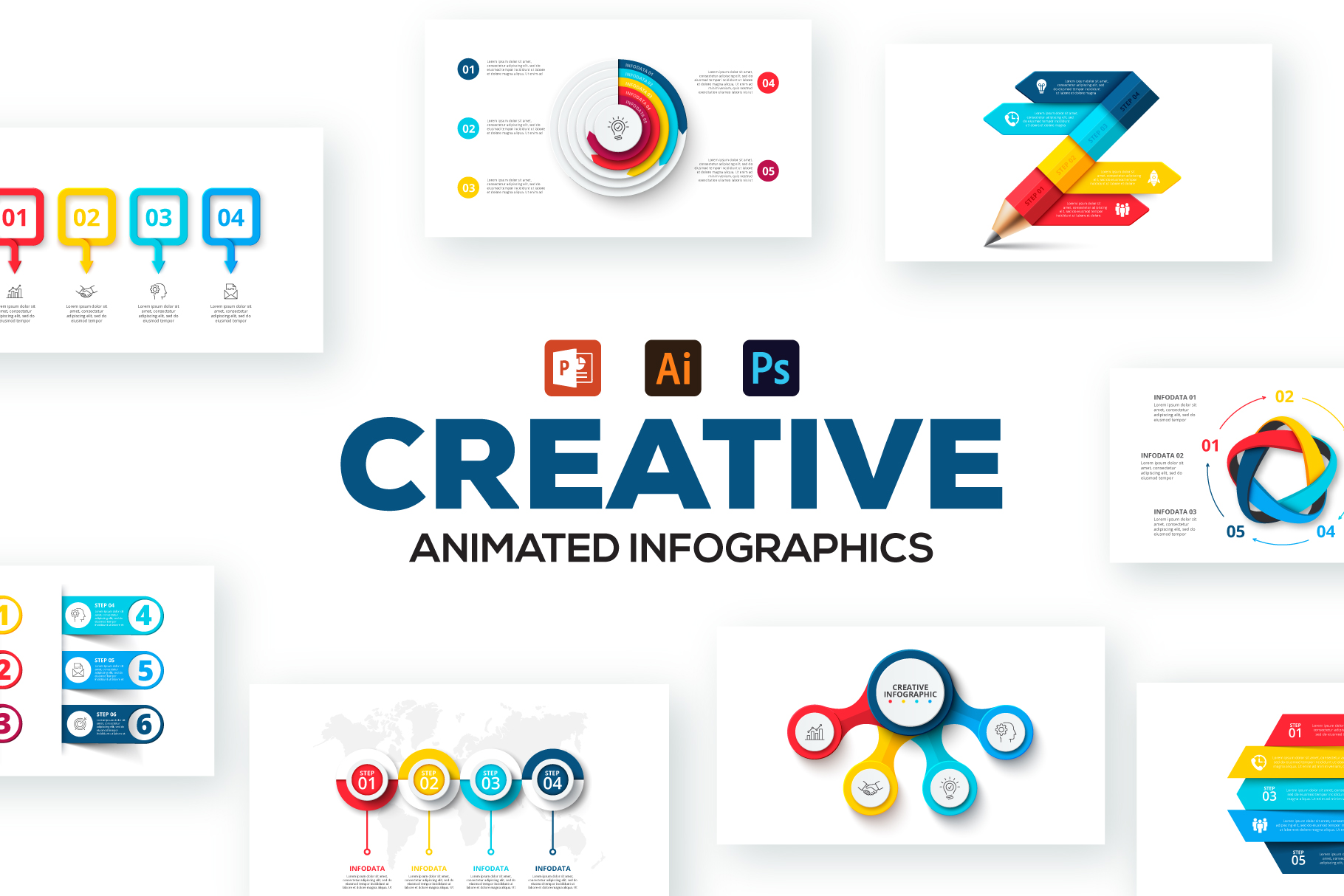 80 Cool Animated Infographics Presentations - Creative