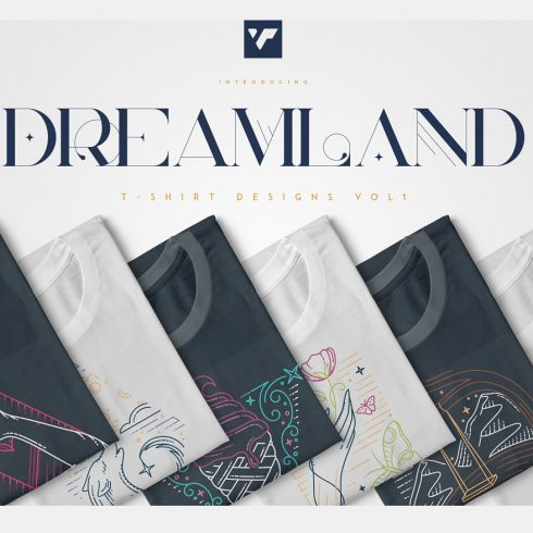 Dreamland: Summer T-Shirt Designs Bundle - Dreamland 490x490