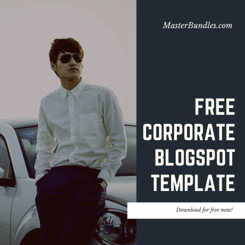 Free Modern Blogger PRO Theme: Corporate - Peach and Gray Watercolor Background Instagram Post 490x490