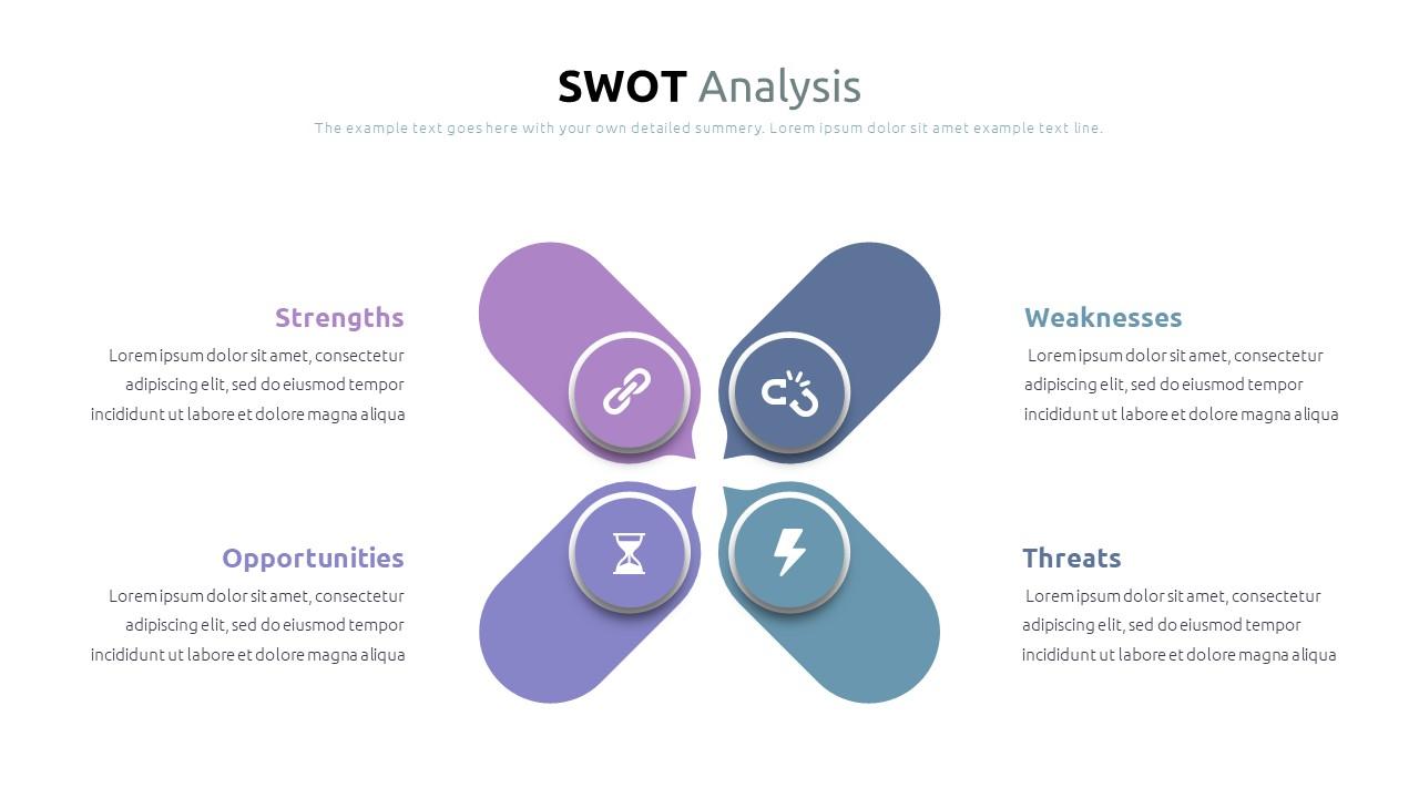 Best SWOT Analysis Template Powerpoint 2021: 40 Unique Slides & 5 Color Schemes - Slide12