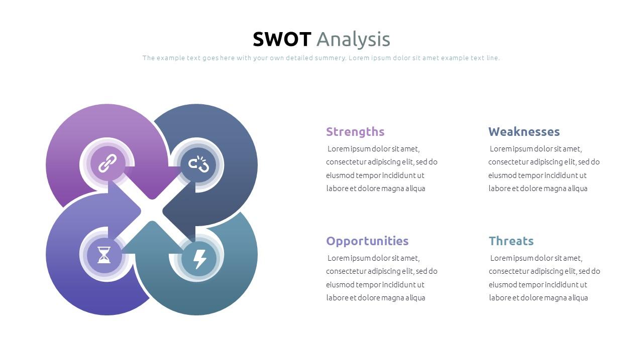 Best SWOT Analysis Template Powerpoint 2021: 40 Unique Slides & 5 Color Schemes - Slide13