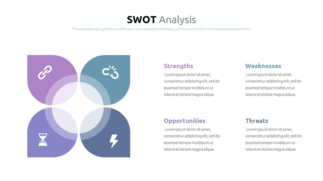 Best SWOT Analysis Template Powerpoint 2021: 40 Unique Slides & 5 Color Schemes - Slide14