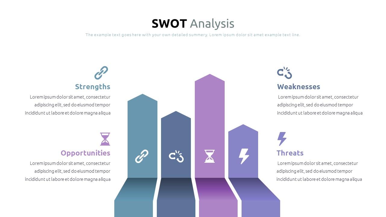 Best SWOT Analysis Template Powerpoint 2021: 40 Unique Slides & 5 Color Schemes - Slide17