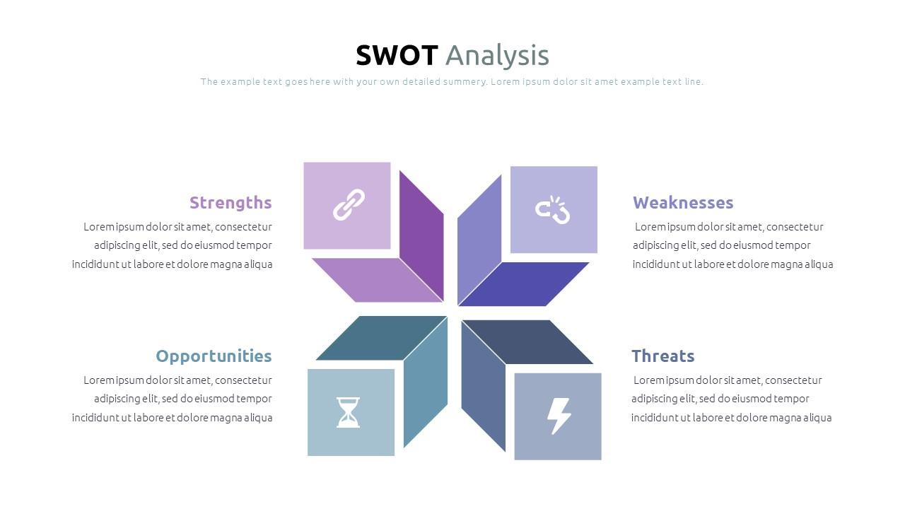 Best SWOT Analysis Template Powerpoint 2021: 40 Unique Slides & 5 Color Schemes - Slide18
