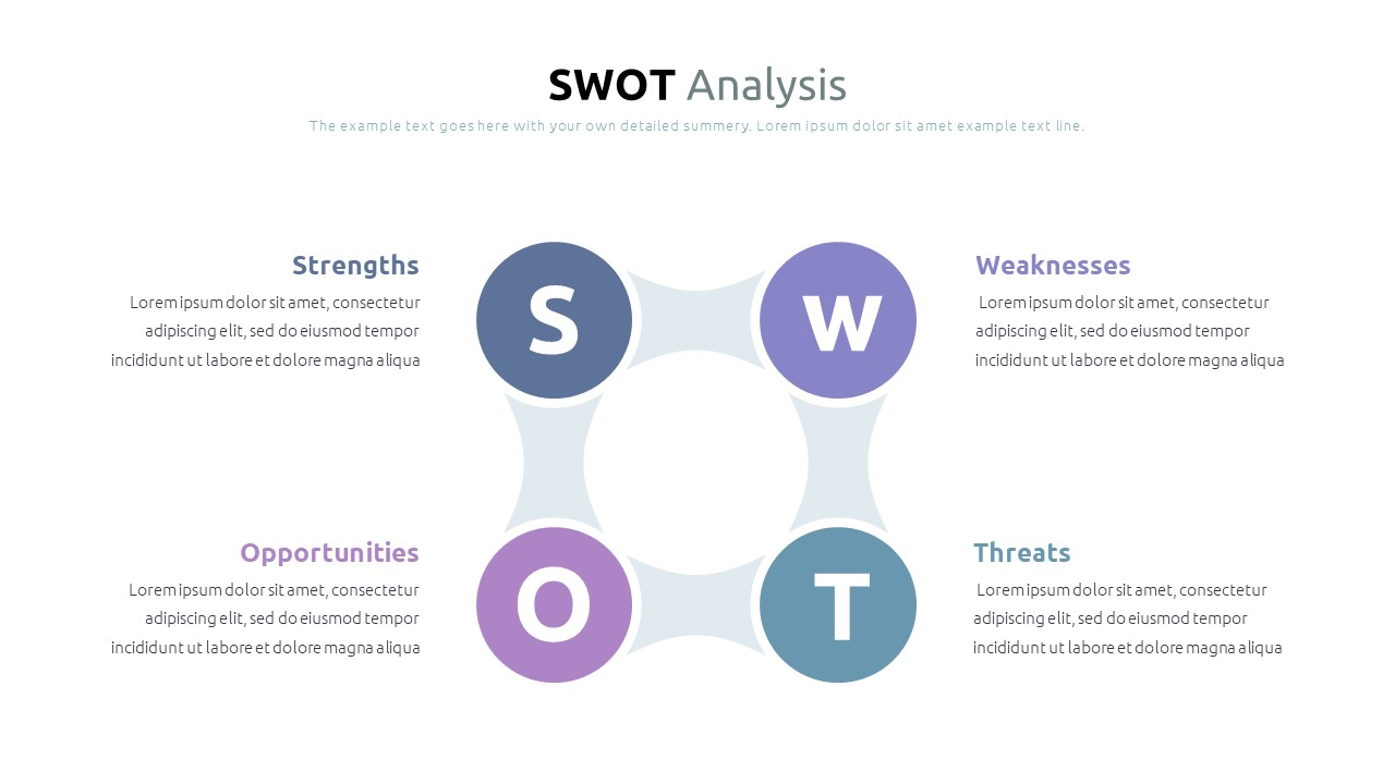 Best SWOT Analysis Template Powerpoint 2021: 40 Unique Slides & 5 Color Schemes - Slide2
