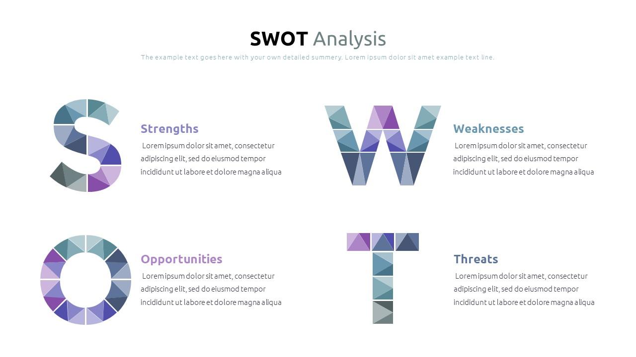 Best SWOT Analysis Template Powerpoint 2021: 40 Unique Slides & 5 Color Schemes - Slide23
