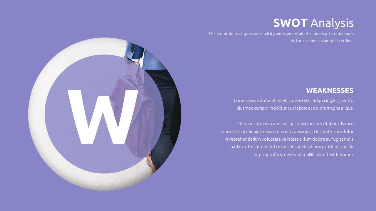 Best SWOT Analysis Template Powerpoint 2021: 40 Unique Slides & 5 Color Schemes - Slide25