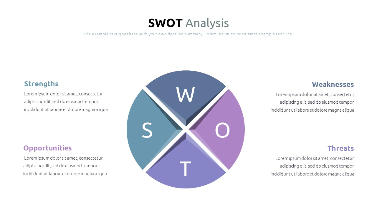Best SWOT Analysis Template Powerpoint 2021: 40 Unique Slides & 5 Color Schemes - Slide3