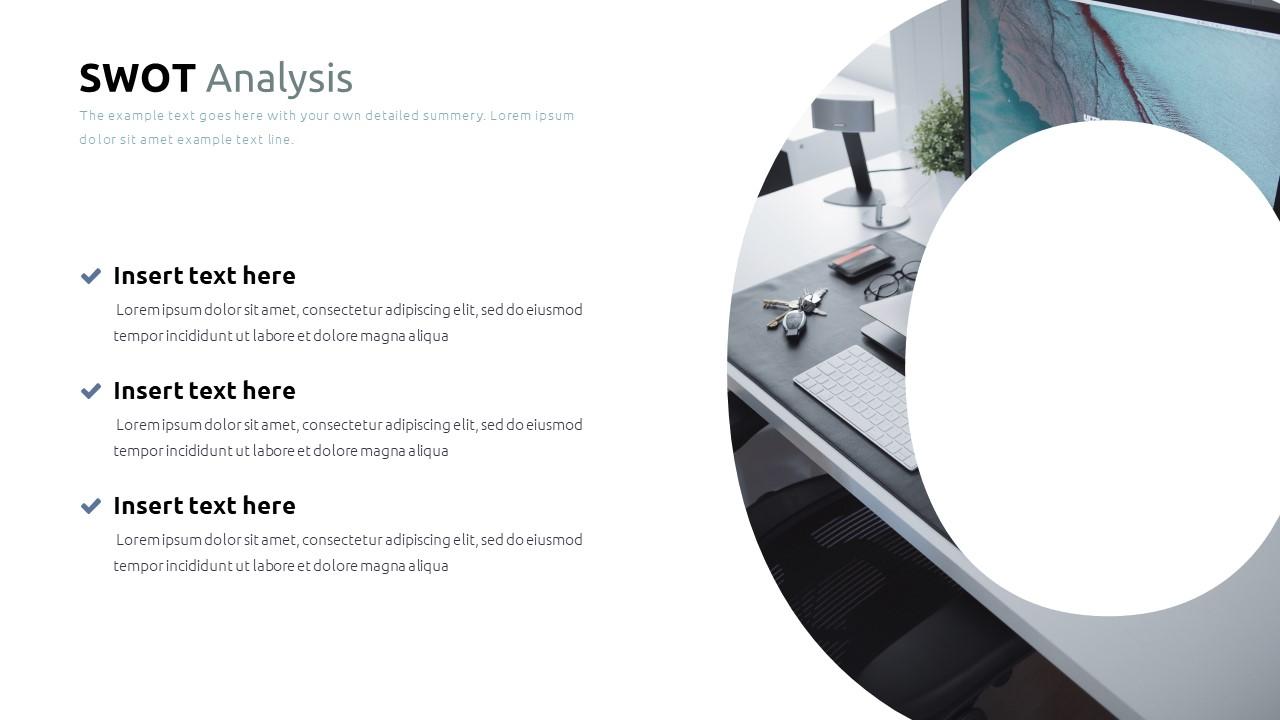 Best SWOT Analysis Template Powerpoint 2021: 40 Unique Slides & 5 Color Schemes - Slide30