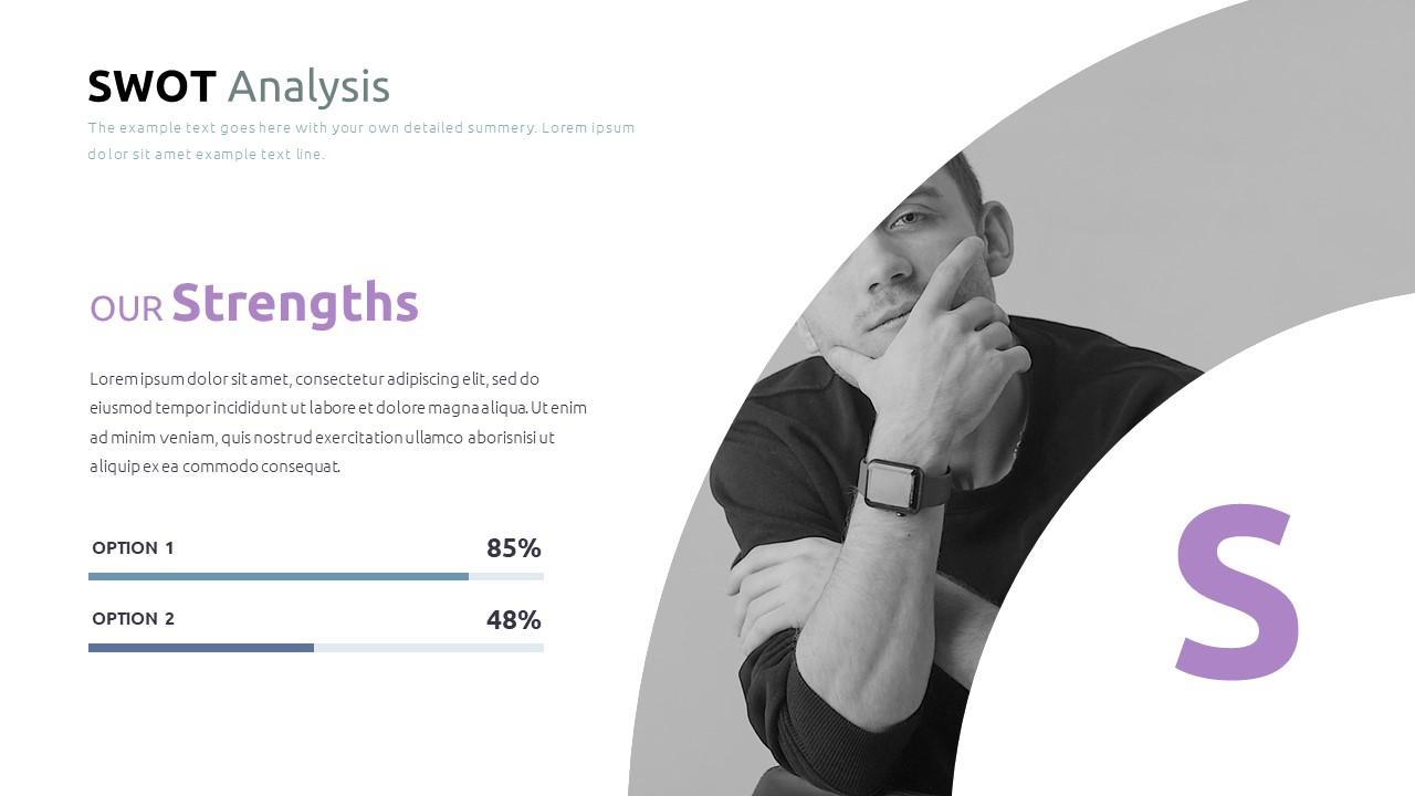 Best SWOT Analysis Template Powerpoint 2021: 40 Unique Slides & 5 Color Schemes - Slide33